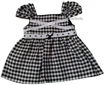 Mayoral 28653 Girls 2yr Sample Black Gingham Top
