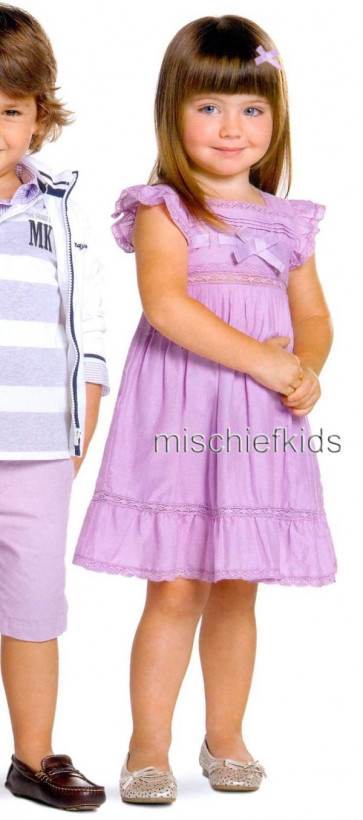 Mayoral 28661 Girls 2yr Sample Lilac Dress