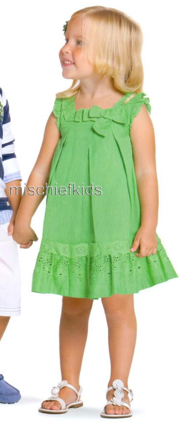 Mayoral 28679 Girls 2yr Sample Green Dress