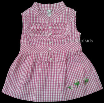 Mayoral 28687 Girls 2yr Sample Pink Gingham Top