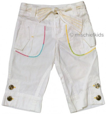 Mayoral 28700 Girls 2yr Sample White Crop Trousers
