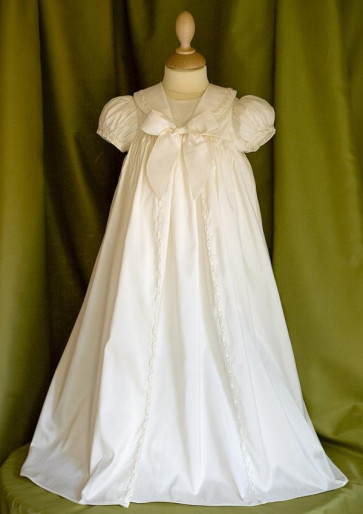 Angels and Fishes RAPHAEL Ivory Silk Boy or Girl Christening Gown