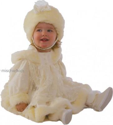 Little Darlings D373 Angel Victorian Ivory Hooded Coat Dress