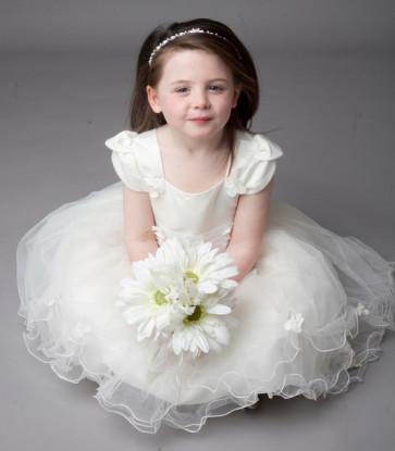 Couche Tot Poppet Ivory Satin and Tulle Dress -Budget Collection