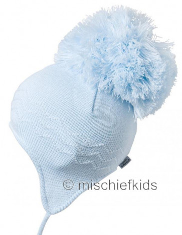 Satila ZIGZAG HUGE Pom Hat BLUE