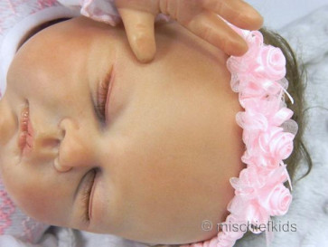 Sarah Louise 003x7925 Organza Roses Headband PINK