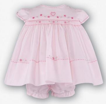 Sarah Louise 0107751 Baby Dress & Panties Set PINK