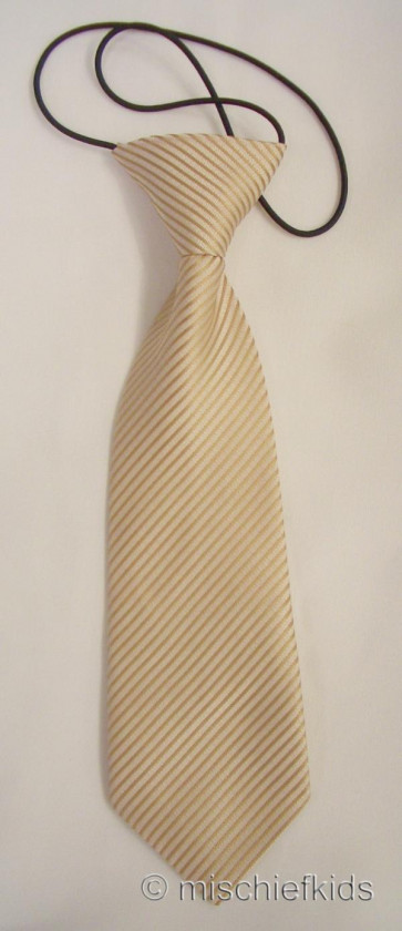 Antonio Villini PD011 Gold Micro Stripe Tie on Elastic
