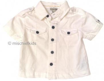 Eliane et Lena 31203 Boys Sample White Shirt DESERT