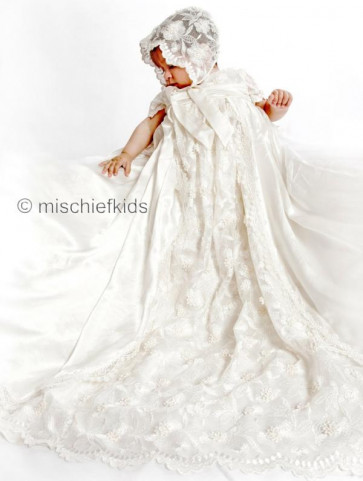 Little Darlings G2090 Olivia Duchess Silk Gown in White or Ivory
