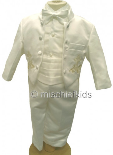 Couche Tot PERRY Satin 6 Piece Baby Tuxedo Set - WAS £69.99