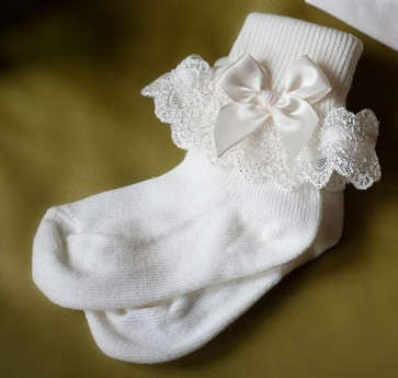 Angels and Fishes AMELIE MARIA CHLOE Ivory Lace Socks