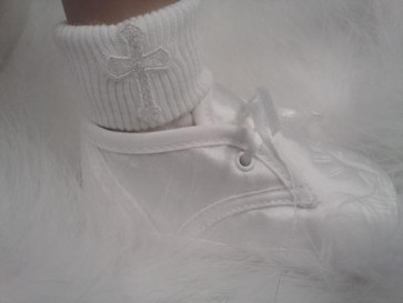 OCCASIONS A2106X Holy Cross Socks WHITE