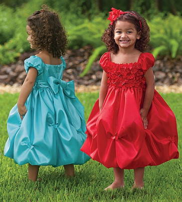 Sarah Louise 070 8472 Ballerina Length Dress RED or TURQUOISE