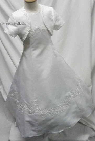 Little People 80290 DASIA White Communion Dress and Bolero Jacket