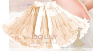 DOLLY Ivory Princess Peachy Beige Tulle Pettiskirt Tutu Skirt