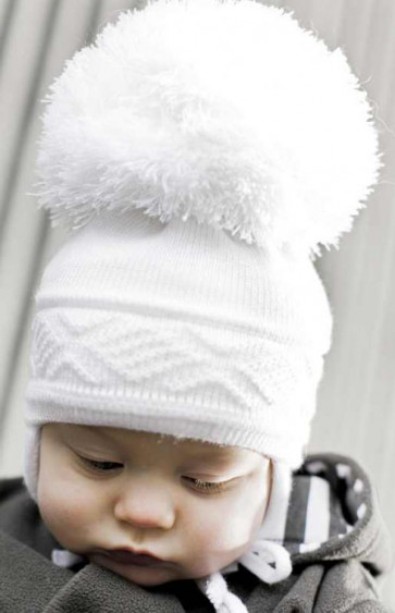 Satila MALVA Huge Pom Hat WHITE or IVORY CREAM