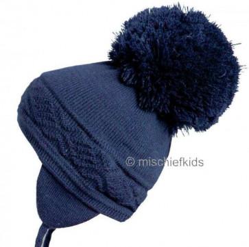 Satila MALVA Huge Pom Hat NAVY