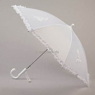 Little People 712 White Frill Edge Parasol