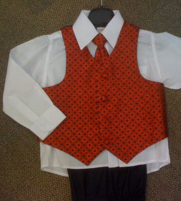 OCCASIONS RORY A451X Red Four Piece Waistcoat Suit