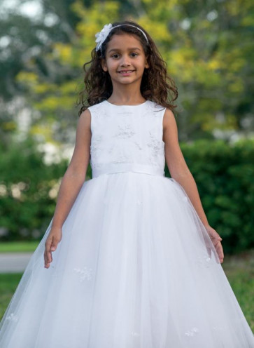 Sarah Louise 070035 Twinkle Tulle Dress WHITE