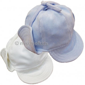 Little Darlings LD2070 and LD2076 Boys Classic Deerstalker Hat BLUE or IVORY CREAM