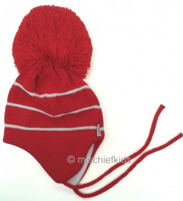 Satila BOBBY helmet Huge Pom Hat RED/WHITE