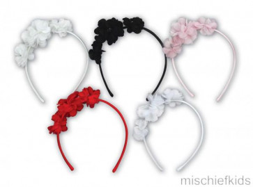 Sarah Louise 0509143 Alice Band Headband PINK or RED or WHITE