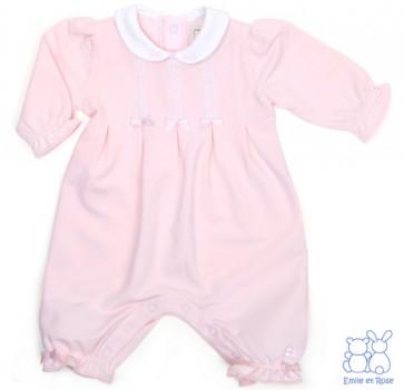 Emile et Rose E1523 BETSY Girls Pink Romper