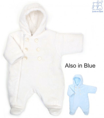 Emile et Rose E1534 BERTIE Unisex Cuddly Teddy Fleece Pramsuit