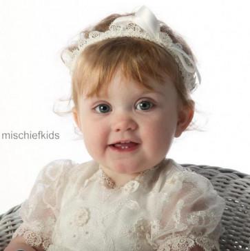Little Darlings HB261 Ivory Lace Garter Style Headband