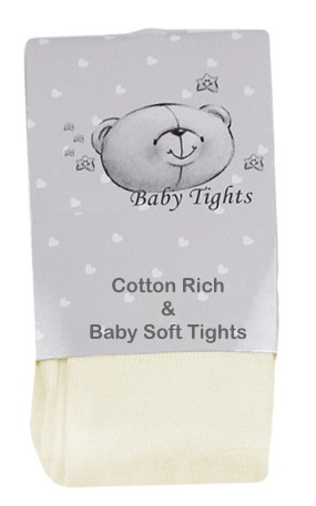 Pretee JJ7006 Cotton Rich Tights IVORY or WHITE