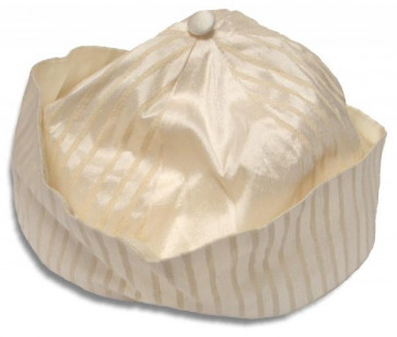 Collins and Hall FC9002 Ivory Pinstripe Silk Hat