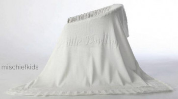 Little Darlings 9015 Ornate Cotton Knit Christening Shawl
