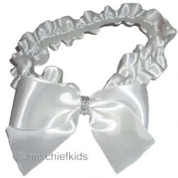 Little Darlings HB262 Satin Sparkle Headband WHITE or IVORY