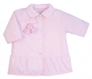 Emile et Rose 9212 CALISTA Pink Peplum Hem Coat