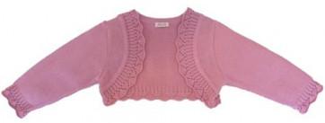 Abella AB5252 Dusky Rose Pink Bolero Cardigan