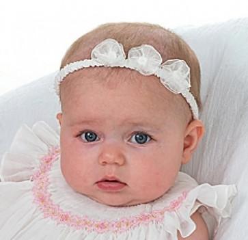 Sarah Louise organza garter baby  headband