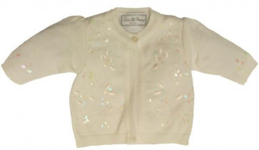 Little Darlings C9013 Ivory Pima Cotton Cardigan