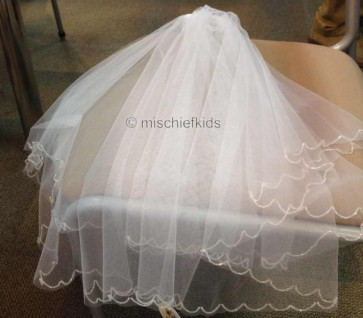 OCCASIONS AV0310X Crystal Edged Double Layer Veil