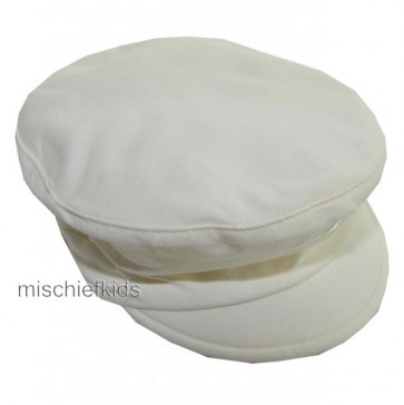 Emile et Rose 4637 BRODY Cotton Baker Boy Cap Hat IVORY