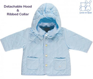 Emile et Rose 9216 CURTIS Rib Collar Lightweight Quilted Jacket