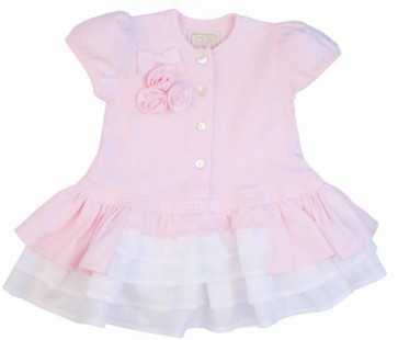 Emile et Rose 6235 CHRISTEL Pink Frills Dress and Panties