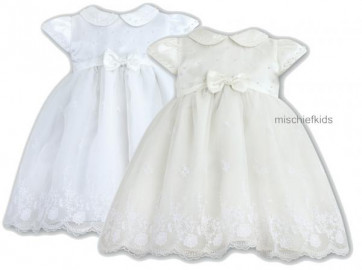 Sarah Louise 10169 CINDY Pearls and Lace Organza Dress
