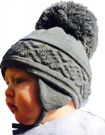 Satila MALVA Huge Pom Hat SCHOOL GREY | Big Pom Hats