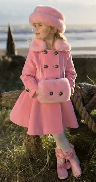 Couche Tot PRISCILLA Pink Coat Hat and Muff