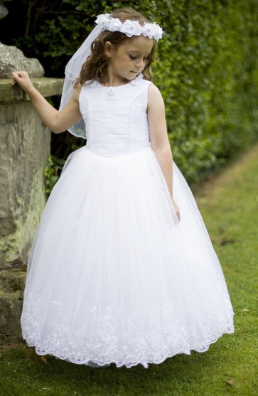 Cerimonia CASSIE Tulle Communion Dress with Removable Hoop