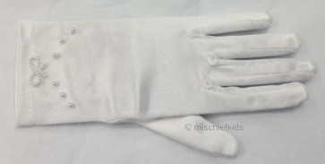 Little People 767 White Satin Stretch Communion Gloves