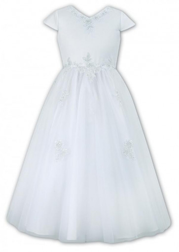 Sarah Louise 090012 ISABELLE Girls White Communion Dress ANKLE LENGTH