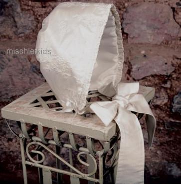 Emile et Rose Occasions 4719 Sienna Silk Christening Bonnet